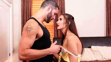 Olivia Nova's get inside the bedroom with the bearded guy and gets her pussy licked passionately