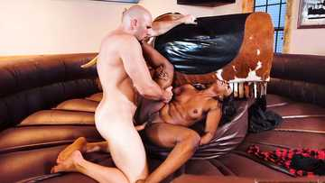 Young big-assed Skyler Nicole rides a bull before riding a cock
