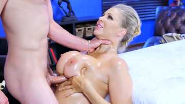 Work fantasies impersonate in blowjob therapy from a busty MILF Julia Ann