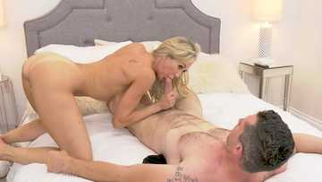 Brandi Love gives young lad true pussy fucking with a MILF in her bedroom