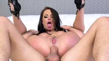 Big-titted milf Alektra Blue gets her booty rampaged by ferocious penis