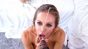 Remarkable Nicole Aniston worships shaft and big black balls of unexpected guest
