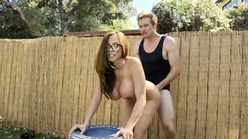 Insatiable cheating wife Ariella Ferrera gets hardcore outdoor pussy fucking