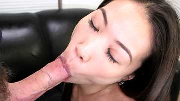 Asian girl Kalina Ryu gets her pussy pounded and a face full of cum for hire!